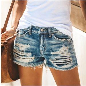 KanCan low rise shorts